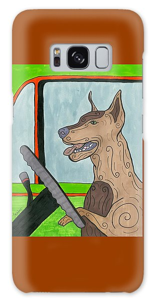 Doberman Driving Galaxy Case by Susie Weber