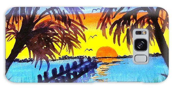Dock At Sunset Galaxy Case
