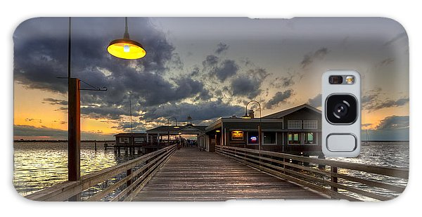 Dock Lights At Jekyll Island Galaxy Case