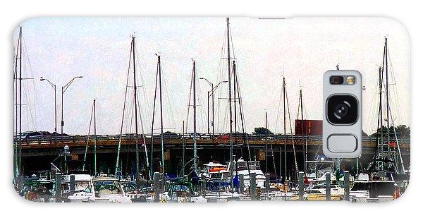 Docked Boats Norfolk Va Galaxy Case