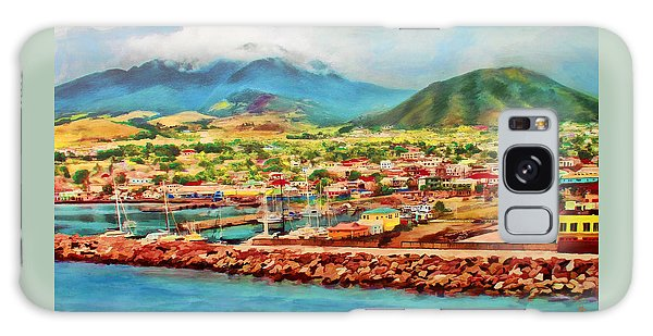 Galaxy Case featuring the mixed media Docked In St. Kitts by Deborah Boyd