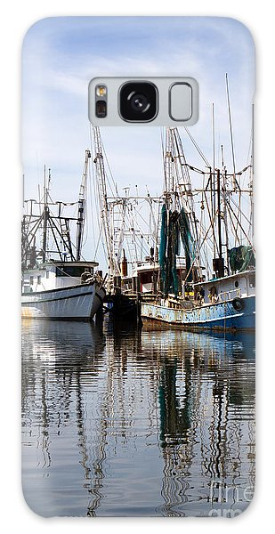 Docked Shrimp Boats Galaxy Case