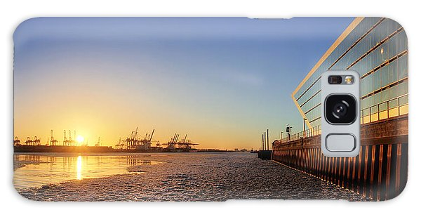 Dockland Sunset Galaxy Case