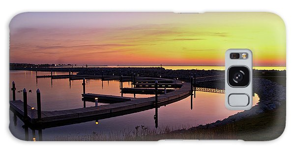 Docks At Sunrise Galaxy Case by Jonah  Anderson