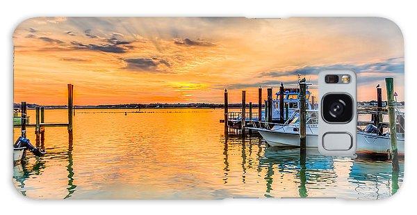 Dockside Sunset Galaxy Case
