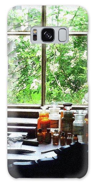 Doctor - Medicine And Hurricane Lamp Galaxy Case by Susan Savad