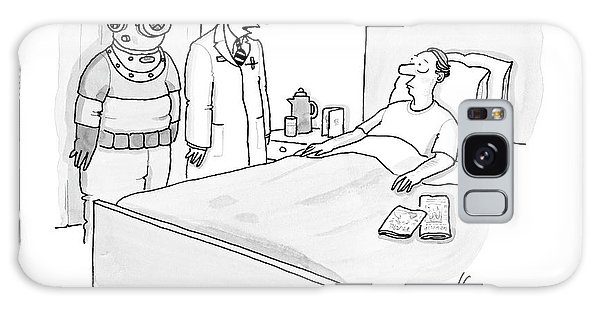 Scuba Diving Galaxy Case - Doctor Speaks To Patient. A Scuba Diver Stands by Leo Cullum