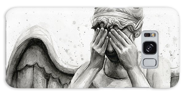 Watercolor Galaxy Case - Doctor Who Weeping Angel Don't Blink by Olga Shvartsur