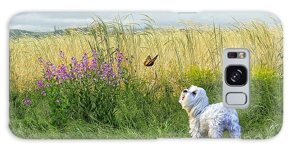 Dog And Butterfly Galaxy Case by Andrea Auletta