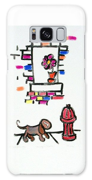 Dog And The Hydrant Galaxy Case by Shelley Overton
