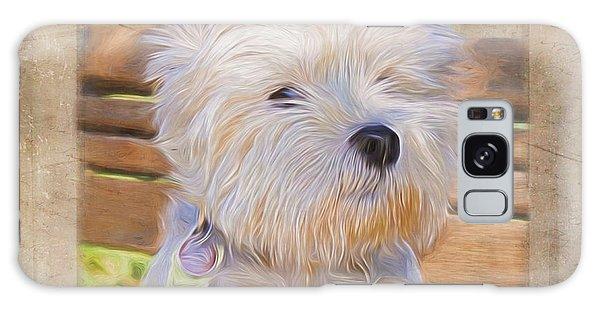 Dog Art - Just One Look Galaxy Case