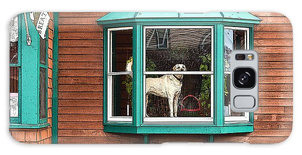Dog In Window Galaxy Case