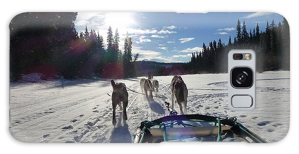 Dog Sledding In The Yukon Galaxy Case