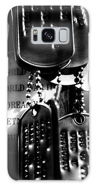 Galaxy Case featuring the photograph Dog Tags From War by Steven Santamour