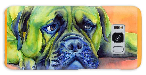 Watercolor Pet Portraits Galaxy Case - Dog Tired by Hailey E Herrera