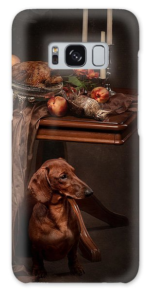Dog Under The Table Galaxy Case