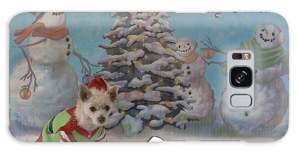 Doggy Elf Nice List Galaxy Case