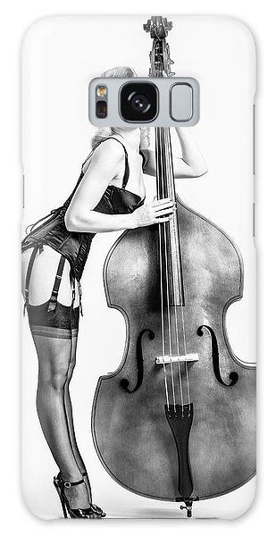 Galaxy Case featuring the photograph Doghouse With Mosh - String Bass Baby   by Gary Heller