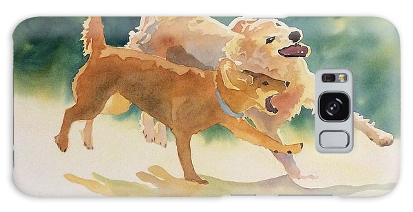 Dogs At Play Galaxy Case