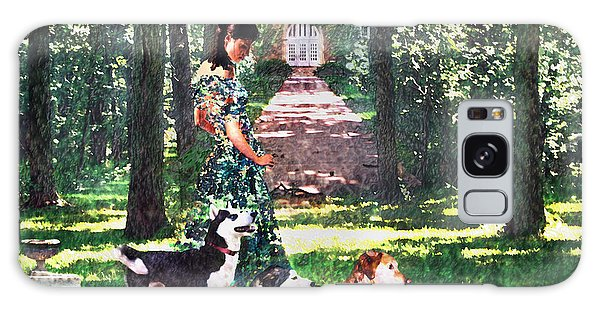 Dogs Lay At Her Feet Galaxy Case by Steve Karol