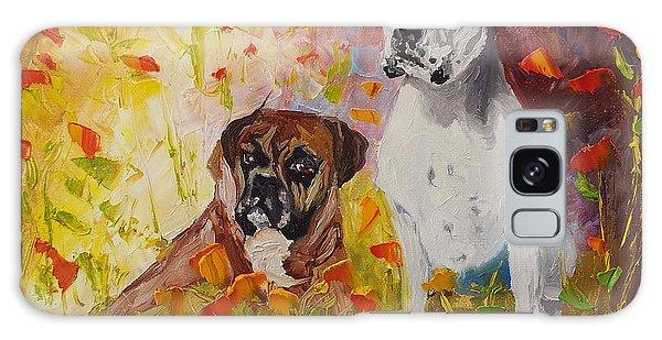 Dogs Painting Fine Art By Ekaterina Chernova Galaxy Case