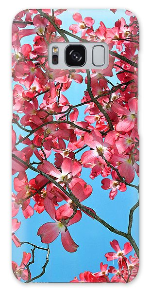 Dogwood Tree Flowers And Blue Sky Galaxy Case