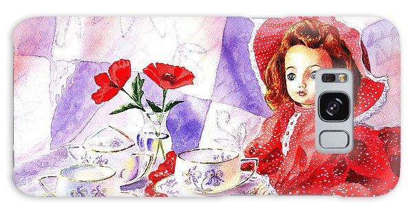 Doll At The Tea Party  Galaxy Case