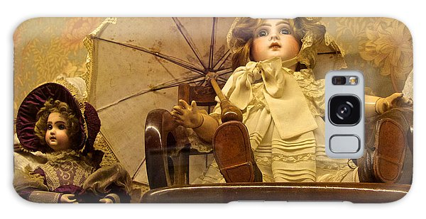 Doll With Parasol Galaxy Case by Venetia Featherstone-Witty