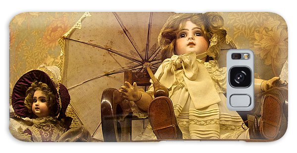 Antique Doll In Chair With Parasol Galaxy Case
