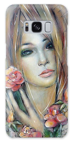 Doll With Roses 010111 Galaxy Case