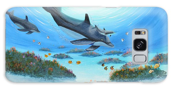 Dolphen Moves Galaxy Case by Myrna Walsh