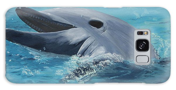 Dolphin At Play Galaxy Case