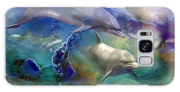 Dolphin Dream Galaxy Case by Carol Cavalaris