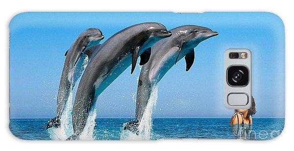 Dolphin Dreams Galaxy Case