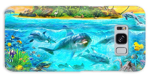 Jan Galaxy Case - Dolphin Paradise Island by MGL Meiklejohn Graphics Licensing
