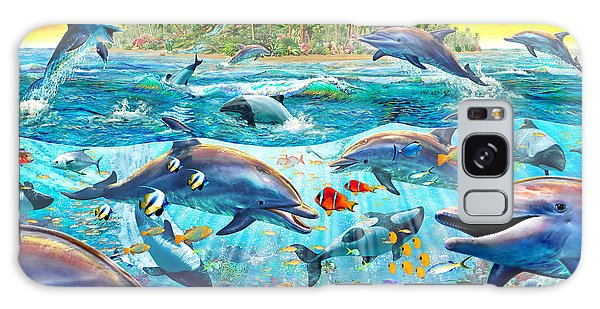 Reef Diving Galaxy Case - Dolphin Reef by MGL Meiklejohn Graphics Licensing