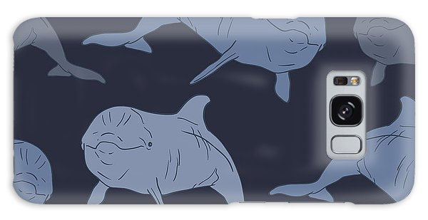 White Galaxy Case - Dolphin Seamless Vector Pattern by Julia snova