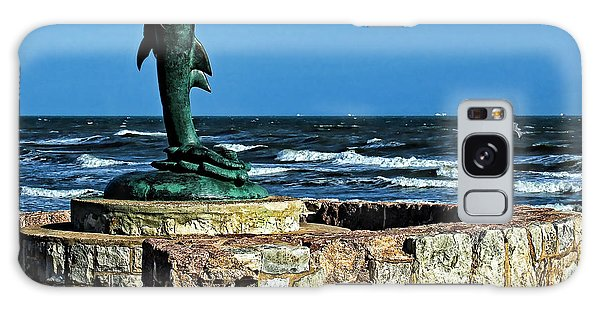 Dolphin Statue Galaxy Case by Judy Vincent