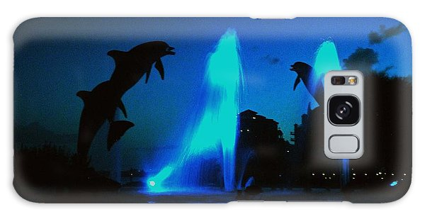Dolphins At Dusk Galaxy Case by Gary Wonning