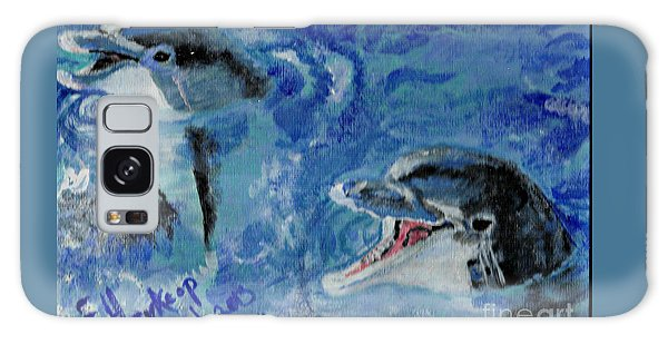 Dolphins Galaxy Case by Francine Heykoop