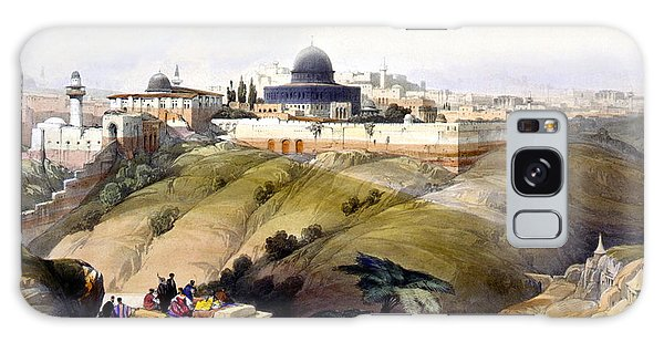 Dome Of The Rock Galaxy Case by Munir Alawi