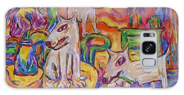 Domesticated Wolves In Dutch Iris Room Galaxy Case