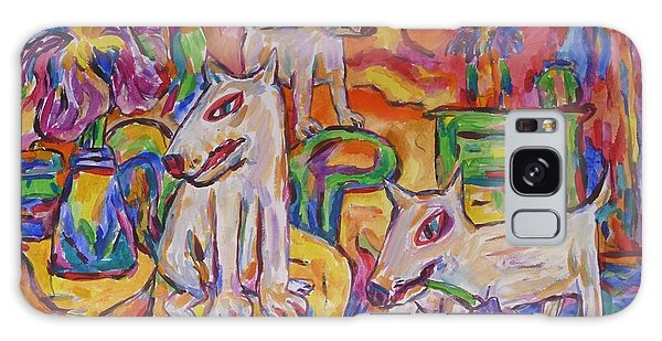 Domesticated Wolves In Dutch Iris Room Galaxy Case by Dianne  Connolly