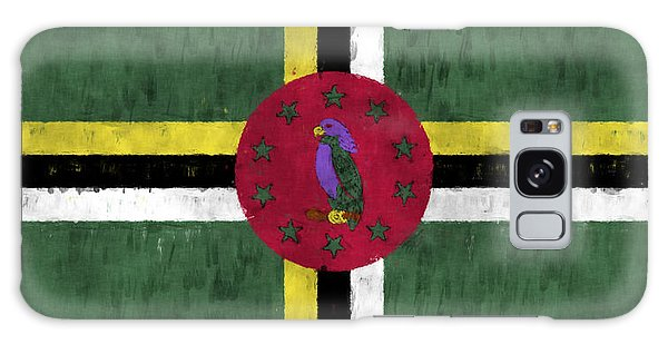Bahamas Galaxy Case - Dominica Flag by World Art Prints And Designs