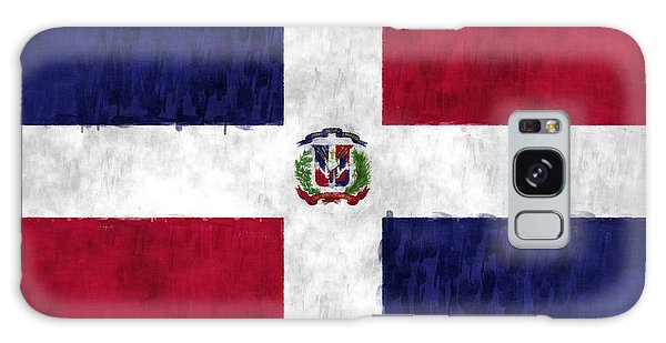 Bahamas Galaxy Case - Dominican Republic Flag by World Art Prints And Designs