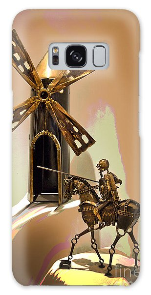 Don Quixote Tilting At Windmills Galaxy Case
