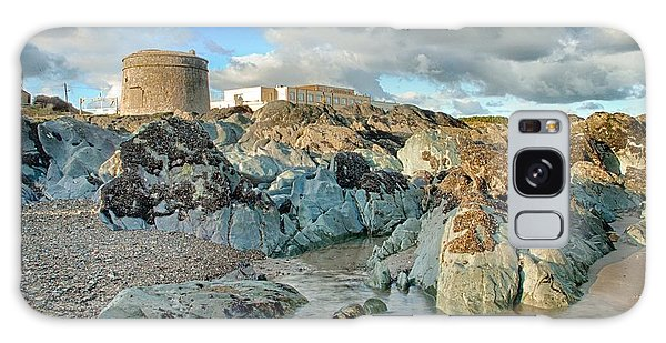 Donabate Martello Tower Galaxy Case by Martina Fagan
