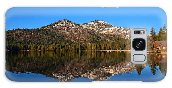 Donner Lake Cabin Reflection Galaxy Case