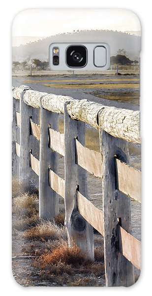 Fence Post Galaxy Case - Don't Fence Me In by Holly Kempe