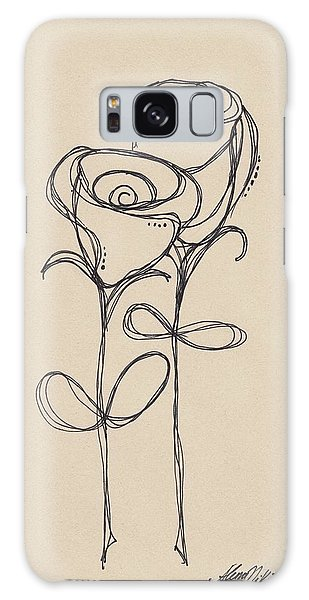 Doodle Roses Galaxy Case